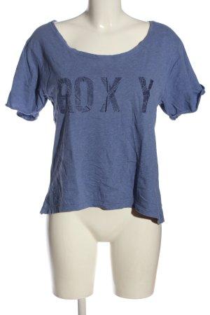Roxy T-Shirt blau Motivdruck Casual-Look