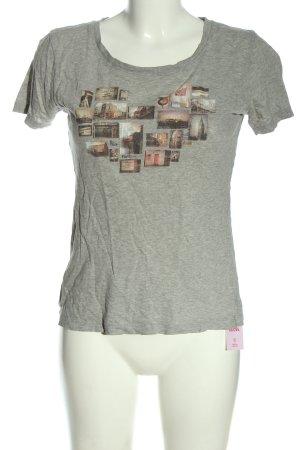 Roxy T-shirt gris clair moucheté style décontracté