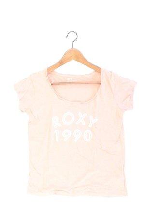 Roxy T-Shirt Größe S Kurzarm pink aus Baumwolle