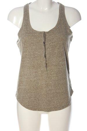 Roxy Camiseta sin mangas marrón estampado repetido sobre toda la superficie