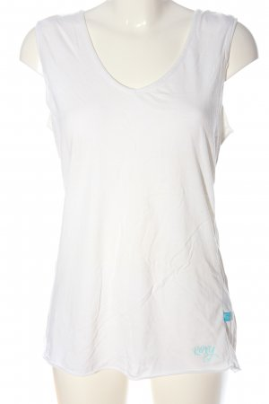 Roxy Tank Top white printed lettering casual look