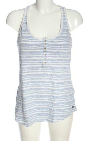 Roxy Débardeur blanc-bleu motif rayé style décontracté