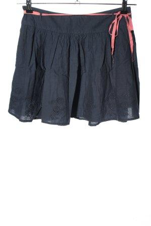 Roxy Spódnica z koła ciemnoniebieski-różowy Elegancki