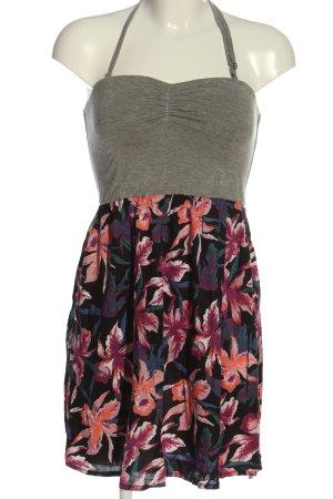 Roxy Trägerkleid hellgrau-pink Allover-Druck Casual-Look