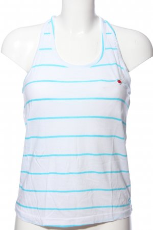Roxy Débardeur à bretelles blanc-turquoise motif rayé style décontracté