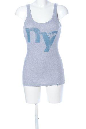 Roxy Débardeur à bretelles gris clair-bleu moucheté style décontracté