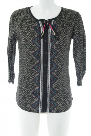 Roxy Tunikabluse schwarz-wollweiß grafisches Muster Casual-Look