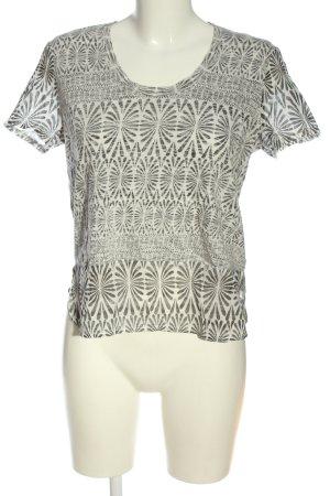 Roxy U-Boot-Shirt wollweiß-schwarz Allover-Druck Casual-Look