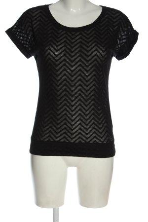 Roxy Camiseta negro estampado gráfico look casual