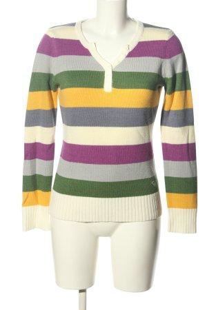 Roxy V-Ausschnitt-Pullover Allover-Druck Casual-Look