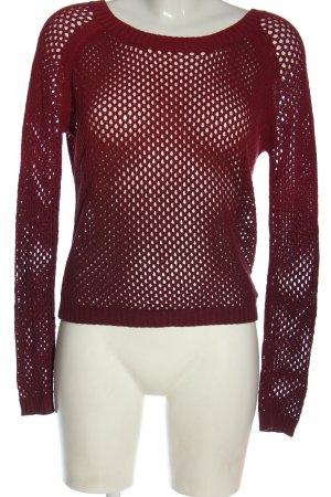 Roxy Jersey con cuello de pico rojo look casual
