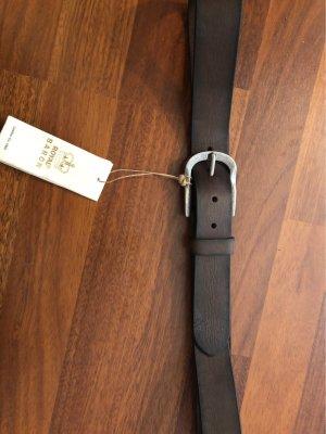 Breuninger Cintura di pelle marrone scuro