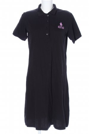 Royal Berkshire Polo Club Vestido tipo polo azul-rosa letras bordadas