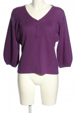royal changra Wollpullover lila Casual-Look