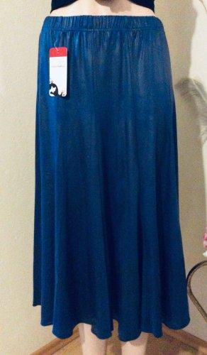 Magna Flared Skirt neon blue polyester