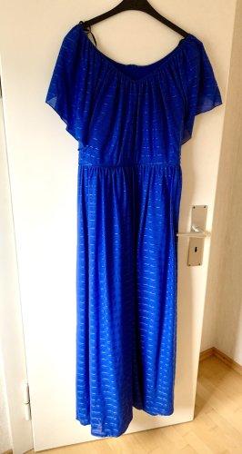 Royalblaues langes Kleid