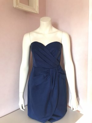 Royalblaues schulterfreies Abendkleid mit Schleife von H&M