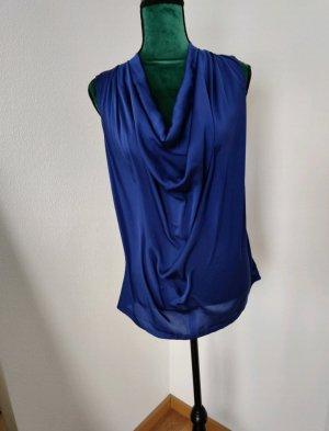 Hallhuber Top tipo cascada azul-azul oscuro