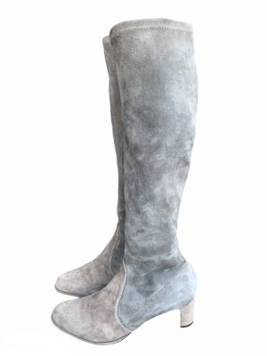 Stuart weitzman High Heel Boots silver-colored leather