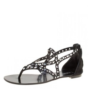 Casadei Strapped Sandals black leather