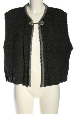 RS Landgut Gilet tricoté noir-gris clair style décontracté