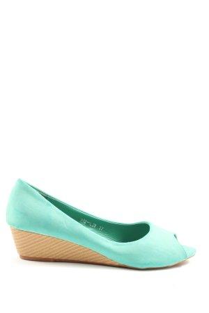 Ruan Peep Toe Ballerinas turquoise casual look