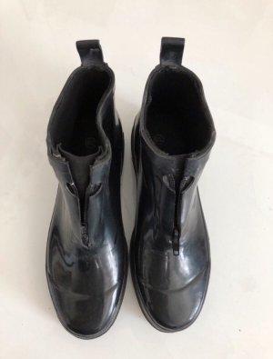 Rubber-Boots Hochglanz Schwarz