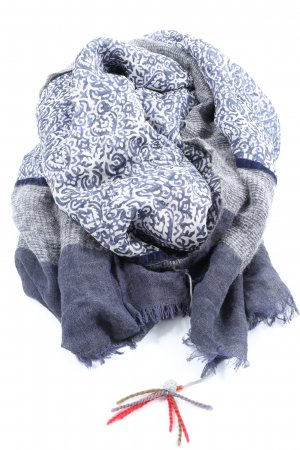 RUBICON Knitted Scarf abstract pattern casual look