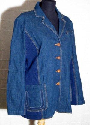 Rubina Stylische Jeans Jacke Größe 46 Blau