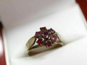 Rubinring 333 Goldring rubin 8k Gold Ring