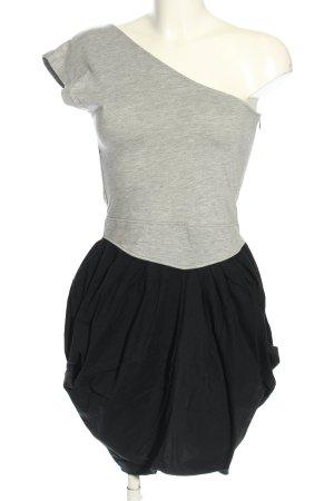 Ruby rocks Abito monospalla grigio chiaro-nero puntinato stile casual