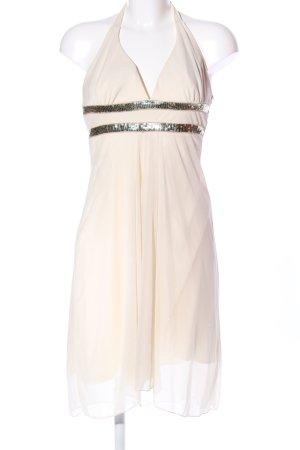 ruby rox Vestido de cuello Halter crema elegante