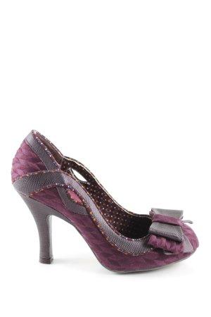 Ruby Shoo High Heels lila-braun Animalmuster Elegant