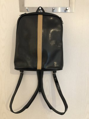 Trekking Backpack black-camel imitation leather