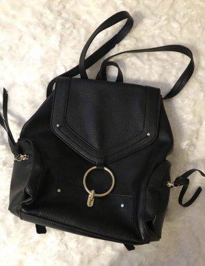 Zara Basic Sac à dos mini noir-doré