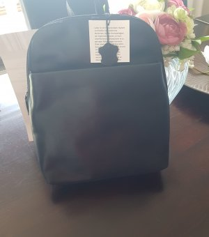 Daypack black leather
