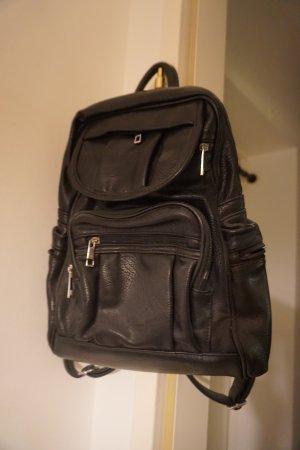 no name Trekking Backpack black leather