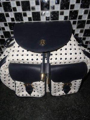 Tory Burch Trekking Backpack white-dark blue leather