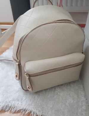 Zara Sac à dos à roulettes blanc cassé-beige clair