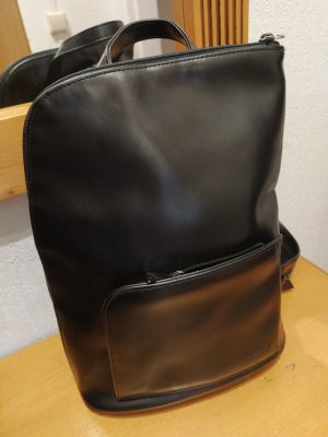 Sunny School Backpack black leather