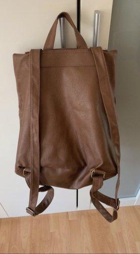 H&M Plecak brązowy-złoto