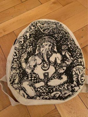 Rucksack aus Baumwolle neu mit Ganesha Motiv