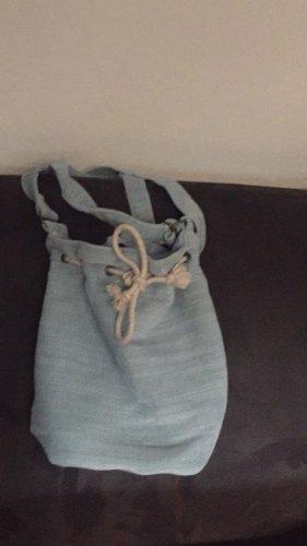 Trekking Backpack sage green-pale blue linen