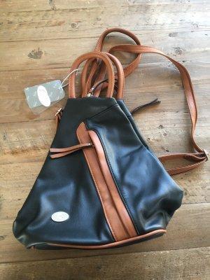 Bolso tipo pochette marrón-negro