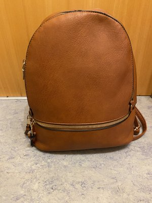 0039 Italy School Backpack cognac-coloured