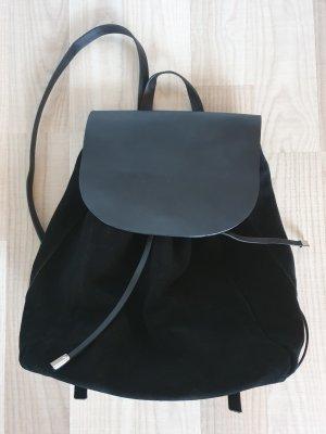 Rucksack aus Leder von Mango