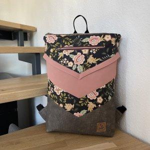 Fine Bag Design Plecak brązowy-stary róż