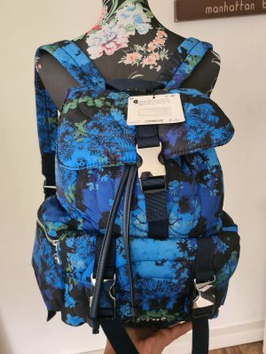 Desigual Backpack Trolley black-neon blue