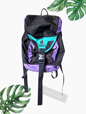 Rucksack deuter 25 aircomfort lila schwarz türkis wandern Tasche | vintage | unisex