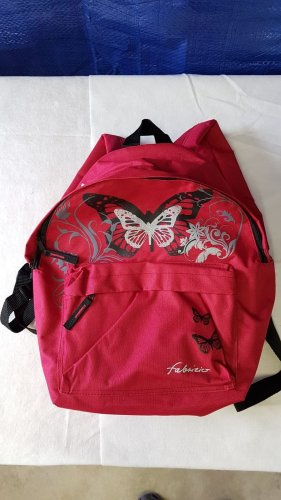 Kindergarden Backpack dark red-red